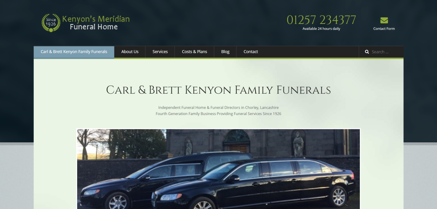 Kenyons Meridian Funerals by AshPark Digital Services